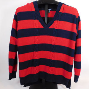 Chaps Blue/Red V-Neck Sweater L CL1980 1019